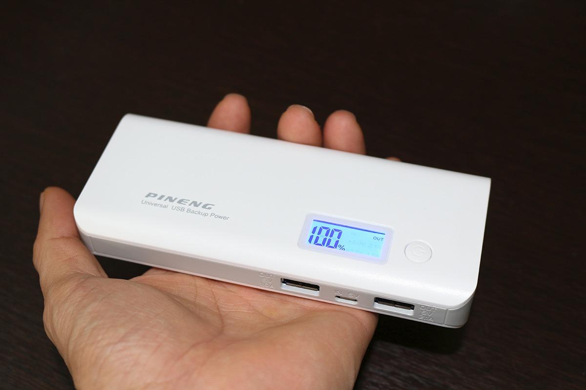 Carregador e bateria Portátil Pineng Pn-968 10000mah Portátil Com Lanterna