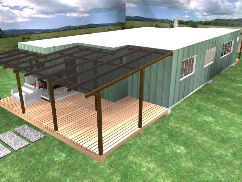 Casa conteiner 90m2 com 3 dormitórios, pré fabricada, modulada, sustentavel